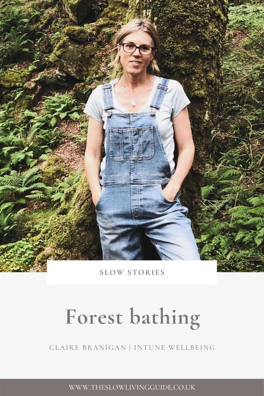 Forest bathing - Claire Branigan - pin