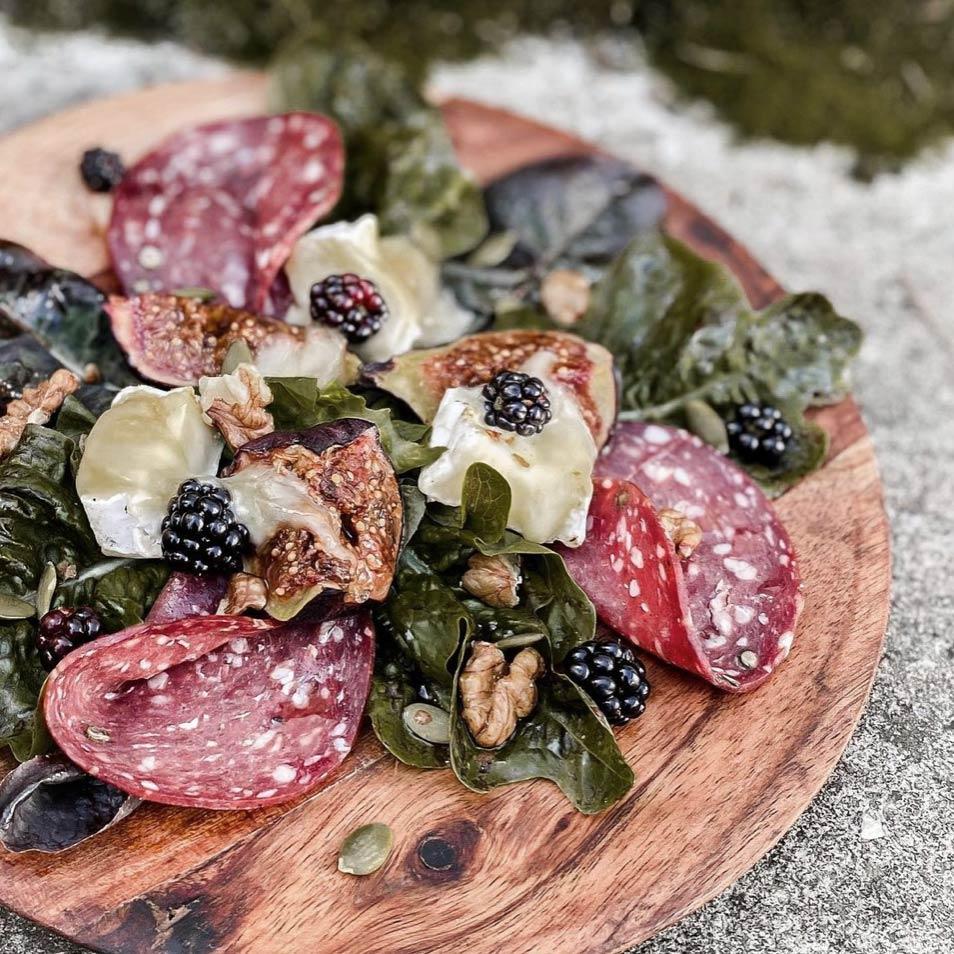 venison salami salad