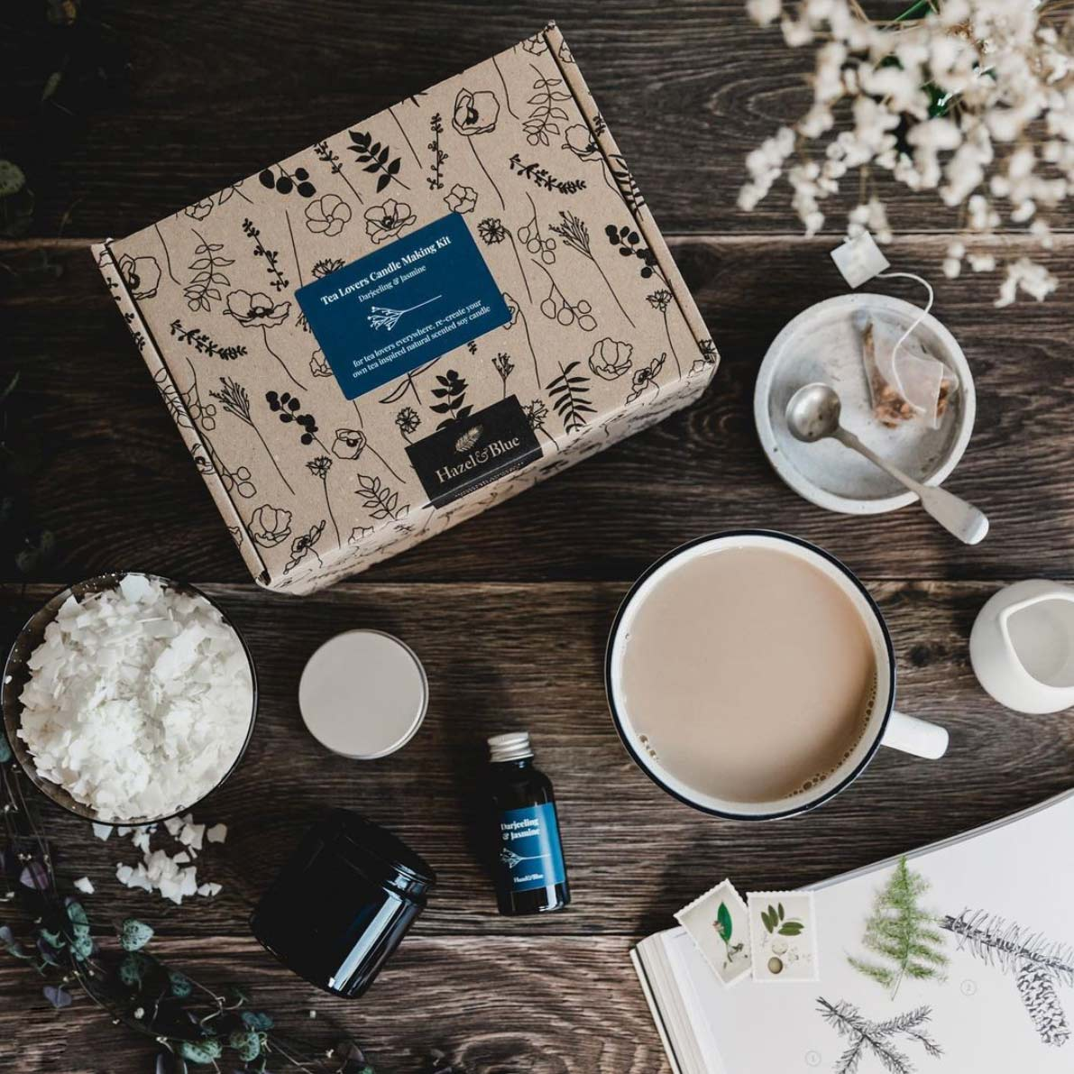 candle making kit from hazel & blue