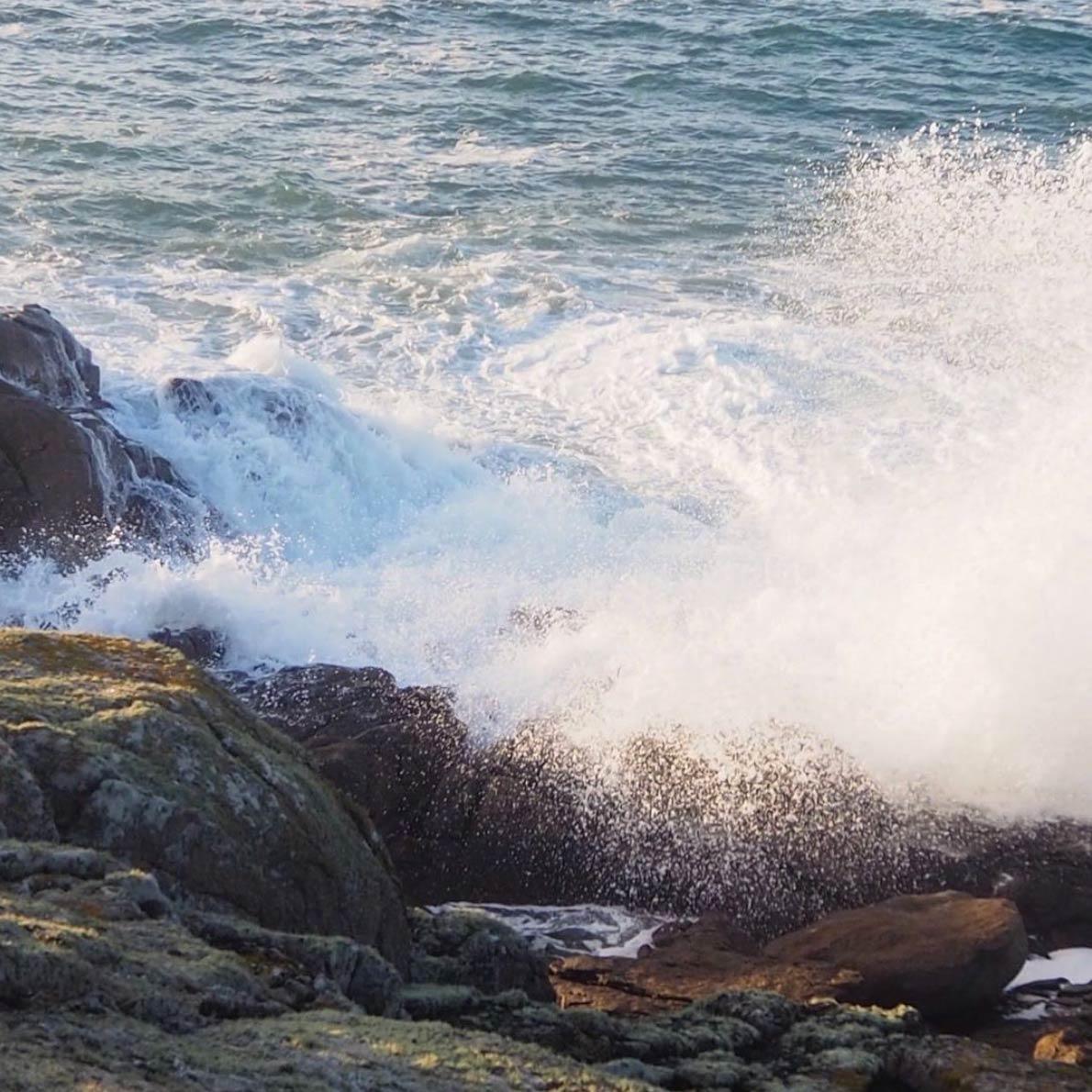 sea water on the coast
