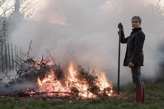 vanessa simpson overlooking a bonfire