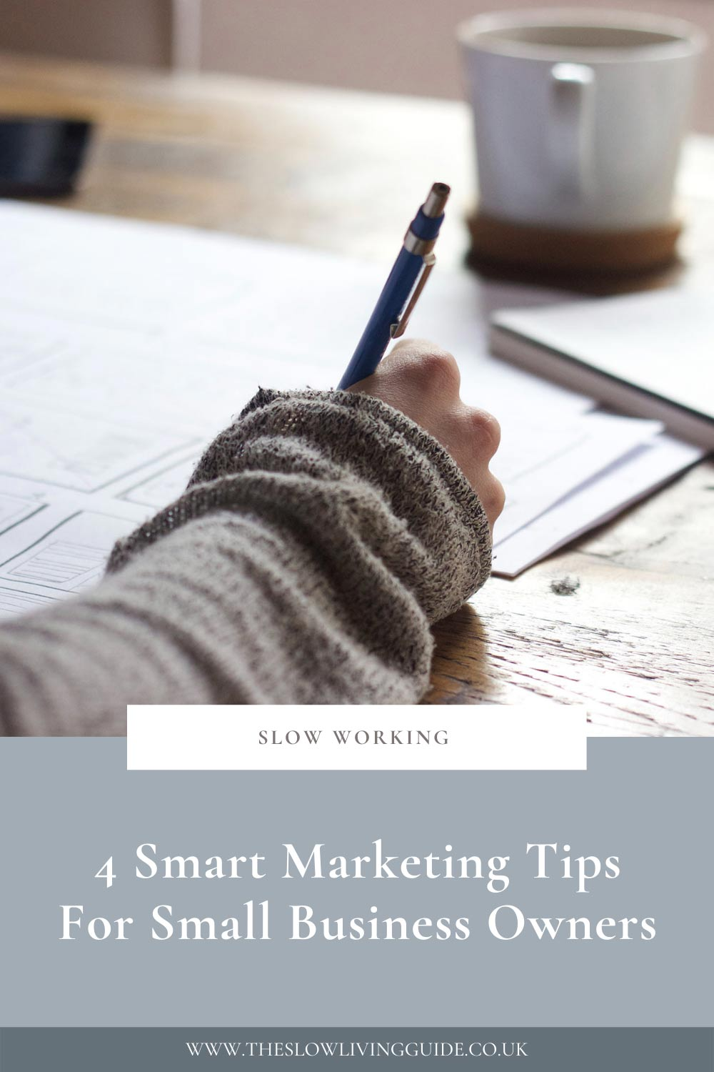 pin image for article 4 smart marketing tips for small business owners