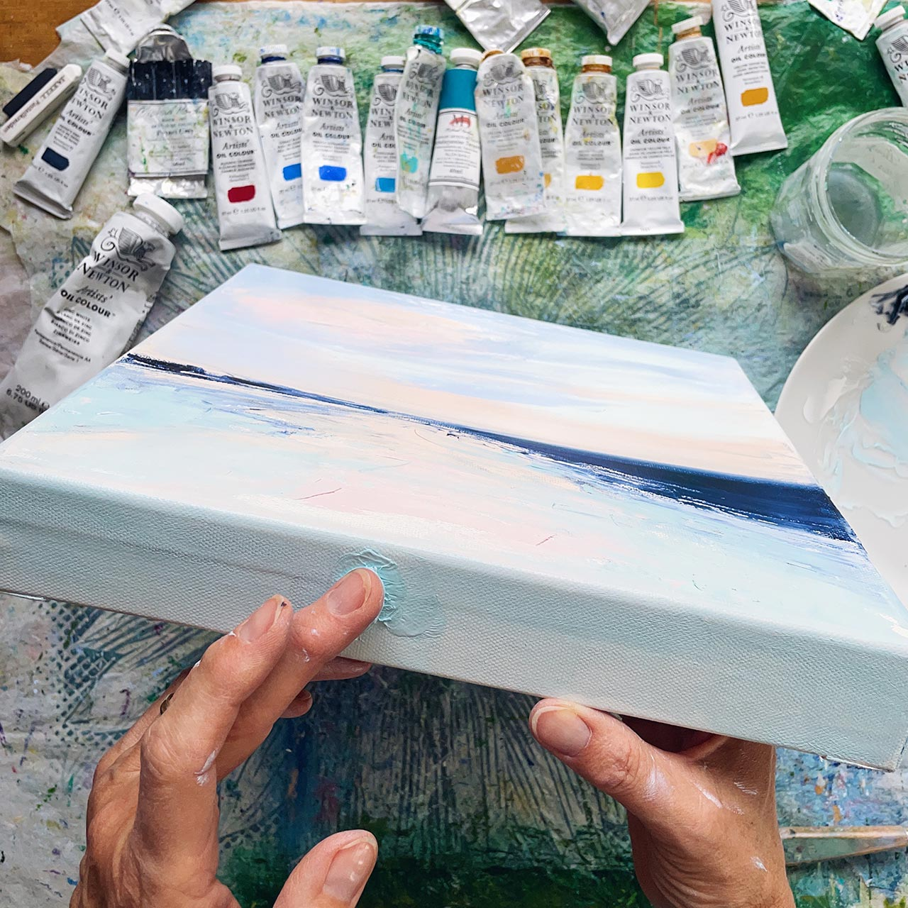 painting in the making by Sue Rapley Art